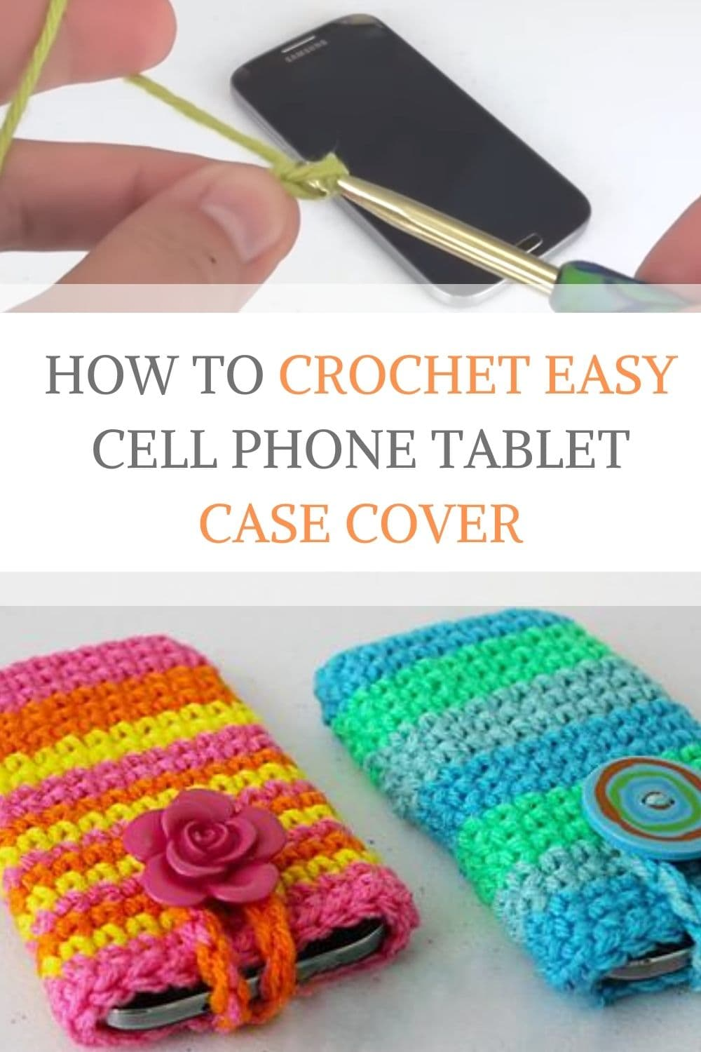 How to Crochet Easy Cell Phone Tablet Case Cover
