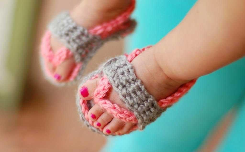 Baby Flip Flops Crochet Pattern