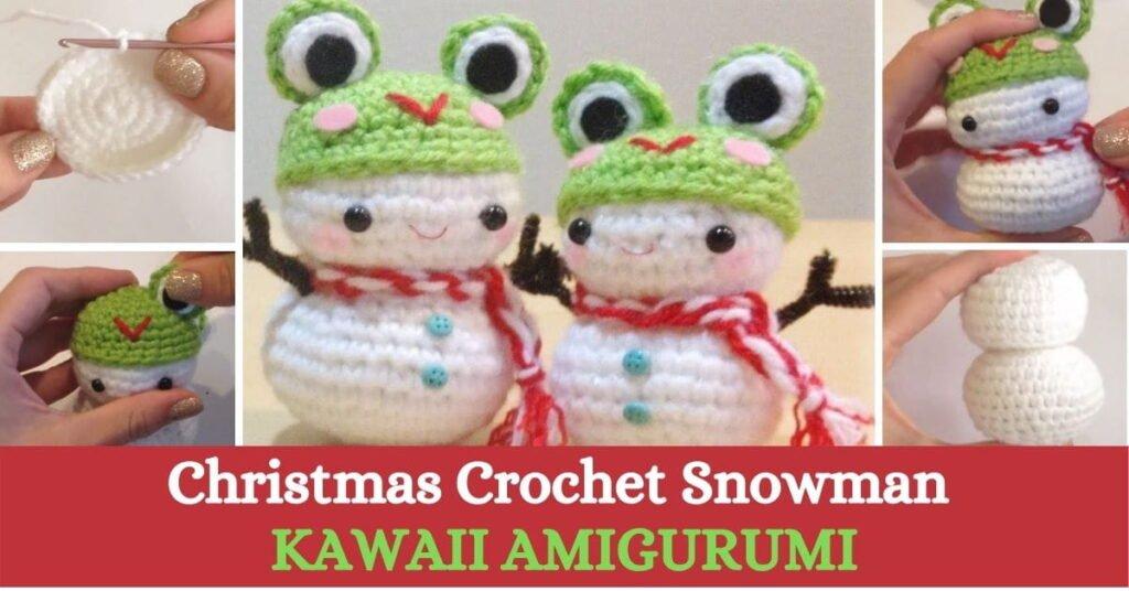 Christmas Crochet Snowman Kawaii Amigurumi