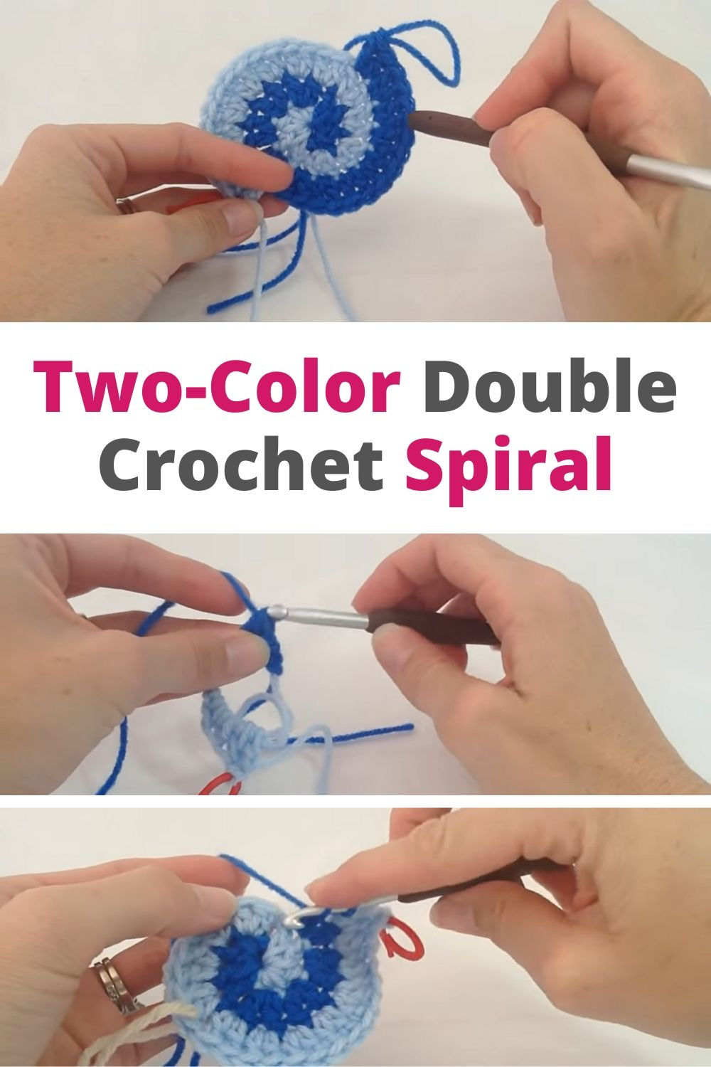 Two-Color Double Crochet Spiral