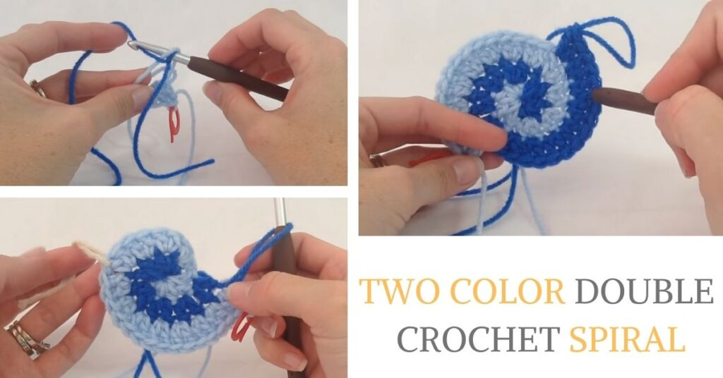 Two Color Double Crochet Spiral