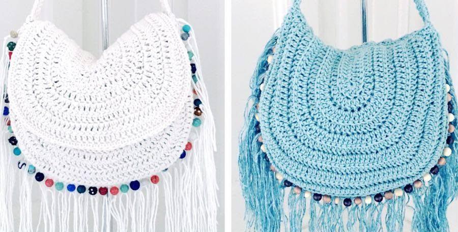 Hippie Style Crochet Bag