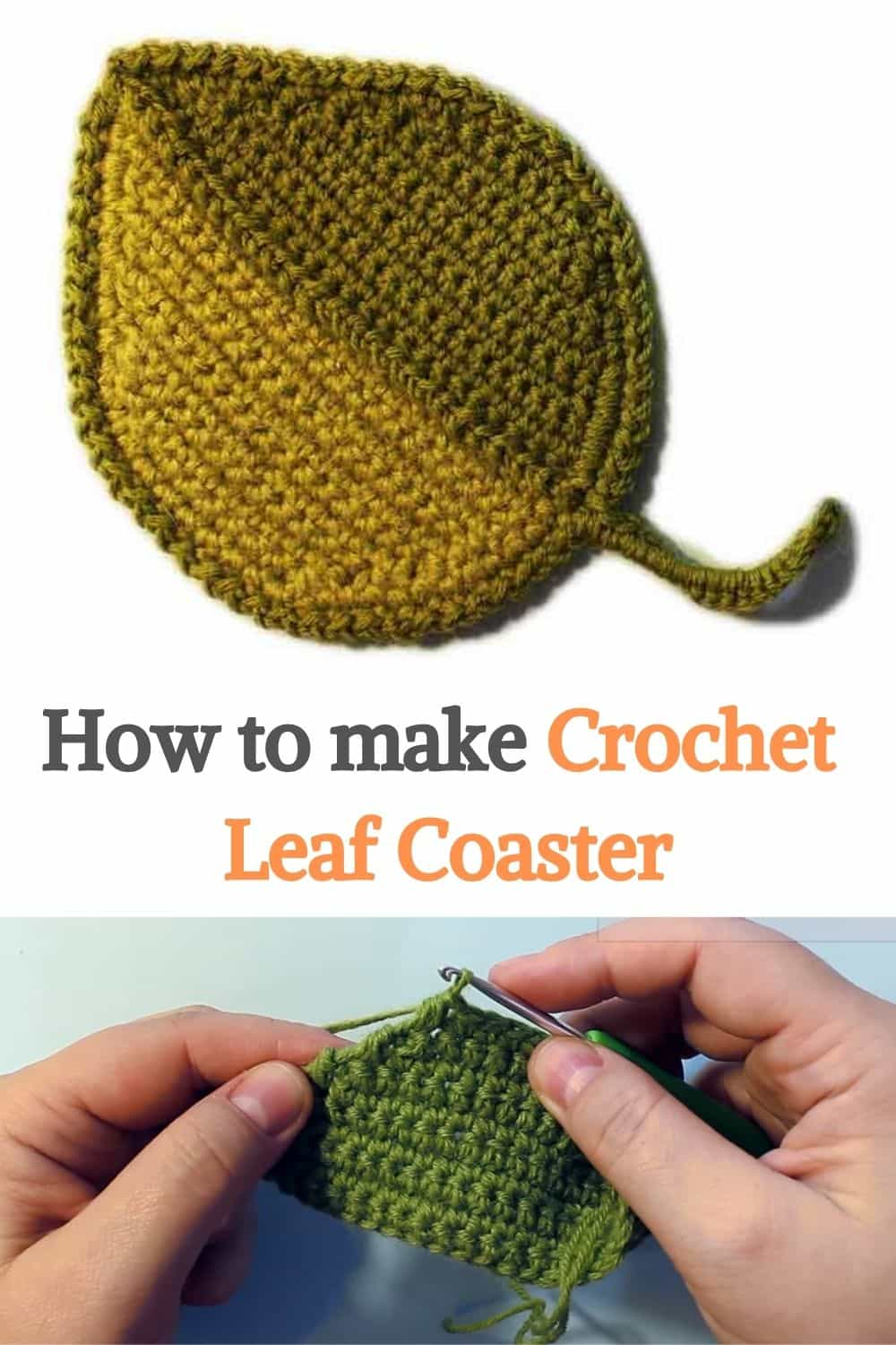 Crochet Leaf Coaster