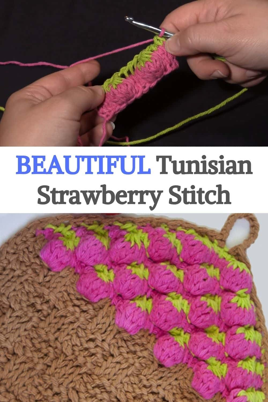 Tunisian Strawberry Stitch