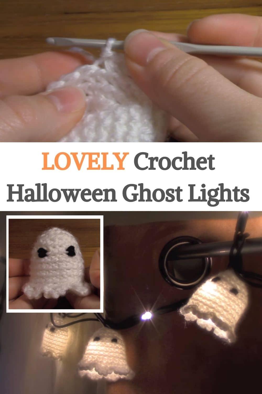 Crochet Halloween Ghost Lights