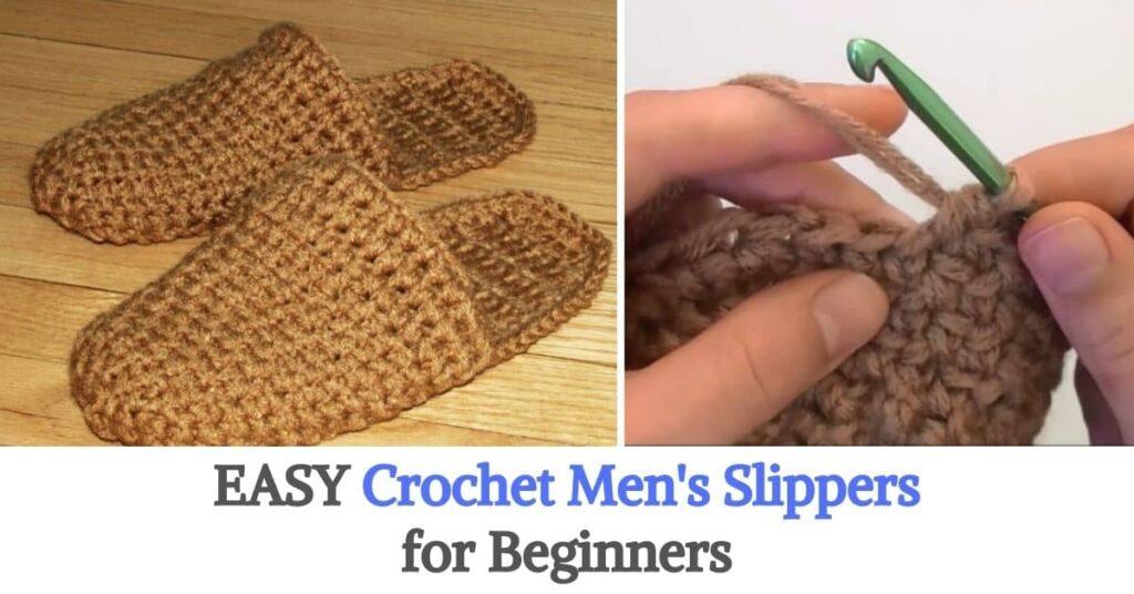 Crochet Men's Slippers