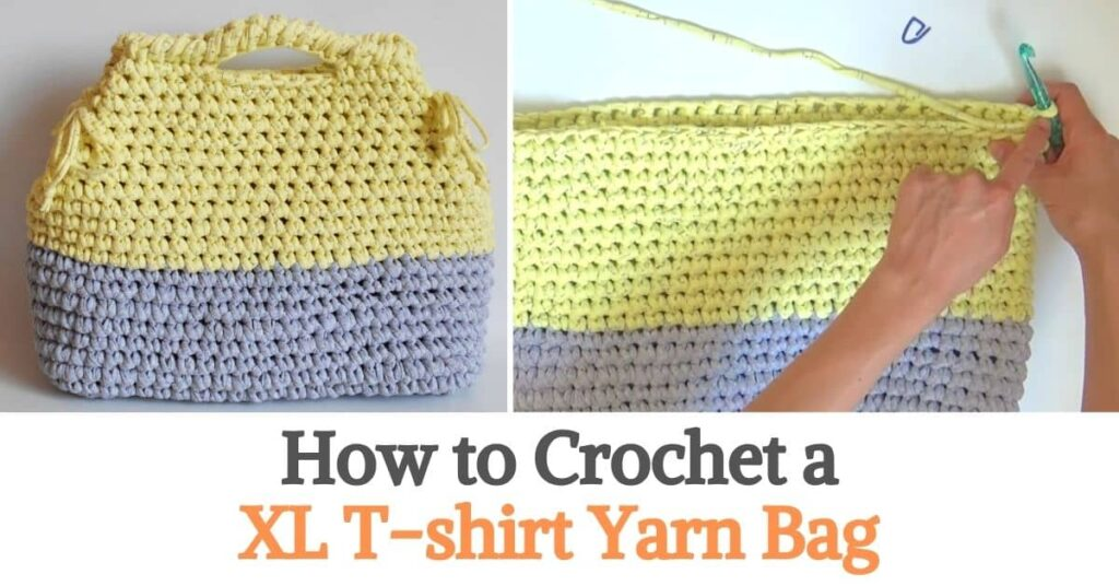 XL T-shirt Yarn Bag