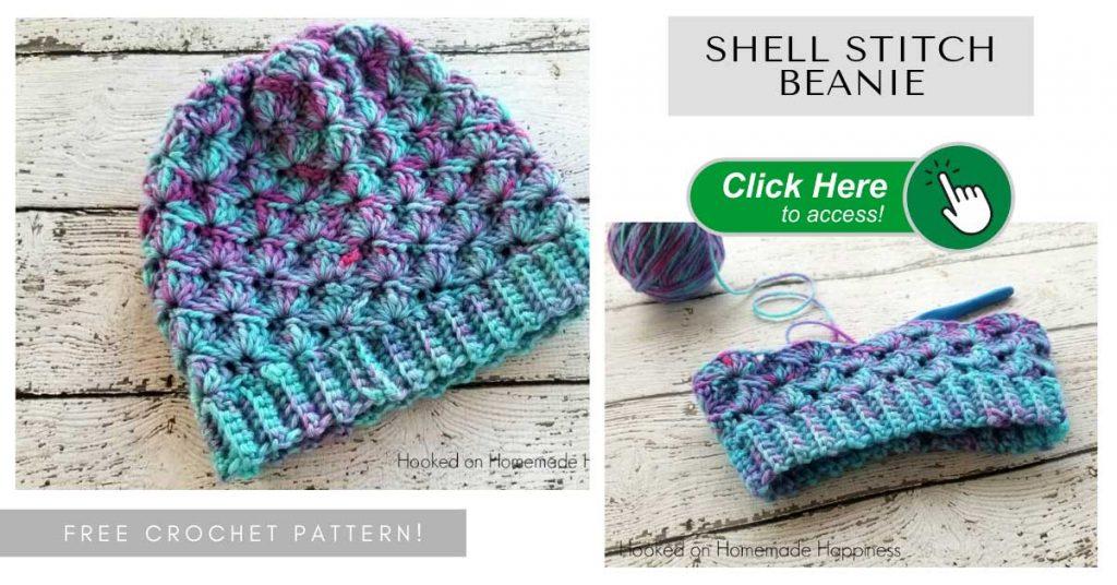 Crochet Shell Stitch Beanie