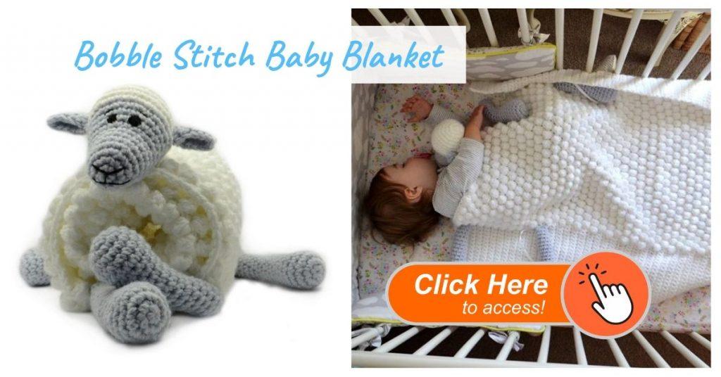 Bobble Stitch Baby Blanket
