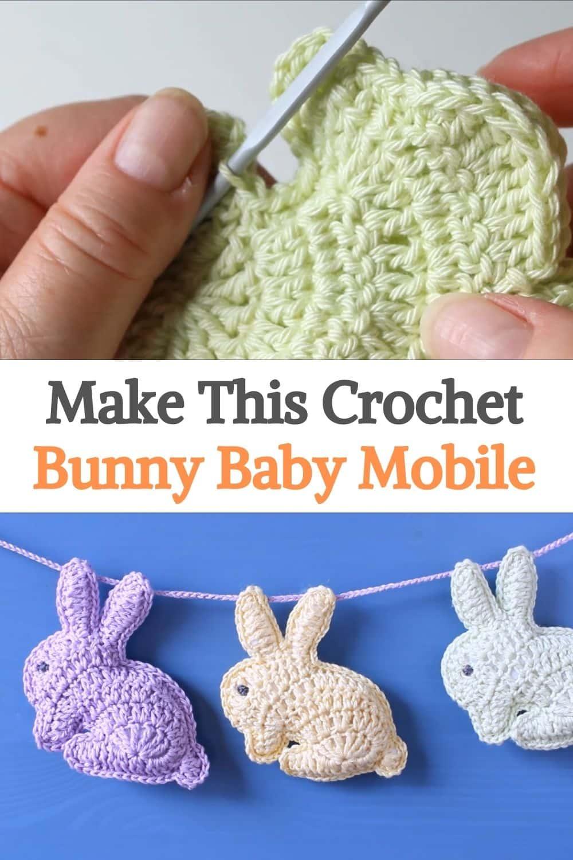 Bunny Rabbit Baby Stroller Mobile