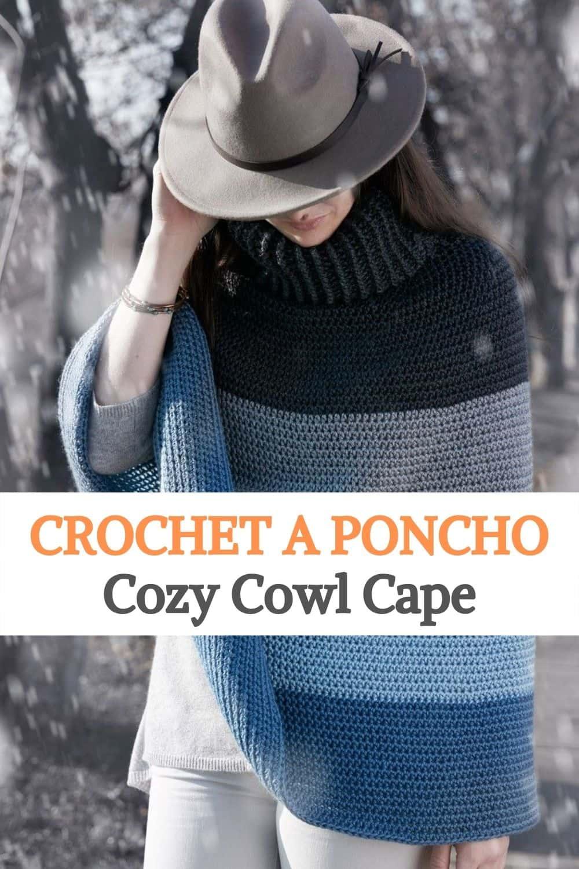 Poncho Cozy Cowl Cape