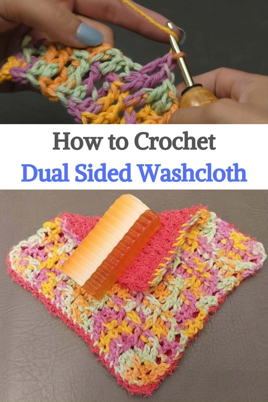 Crochet Dual Sided Washcloth