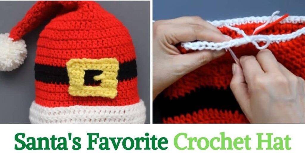 Santa's Favorite Crochet Hat