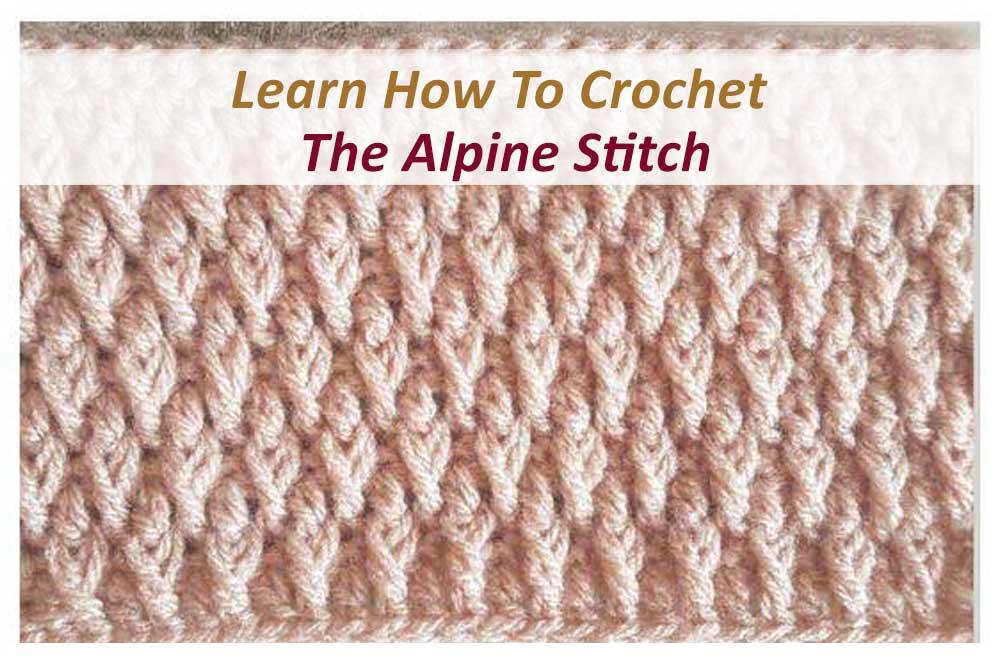 Crochet Alpine Stitch
