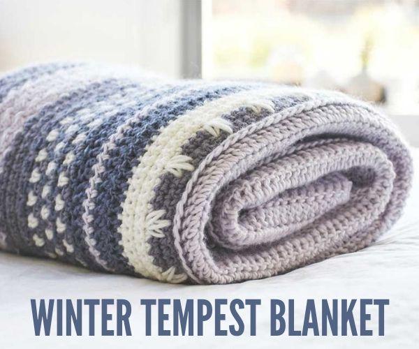 Winter Tempest Crochet Blanket