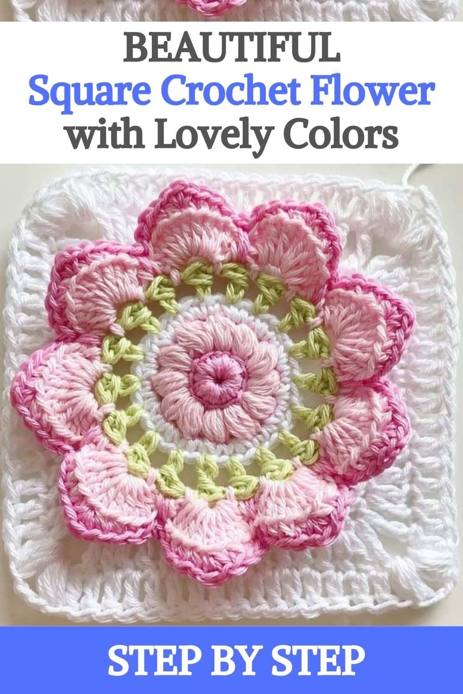 Square Crochet Flower