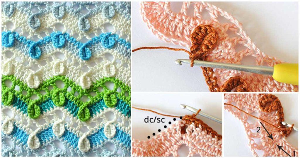 New Crochet Textured Wave stitch