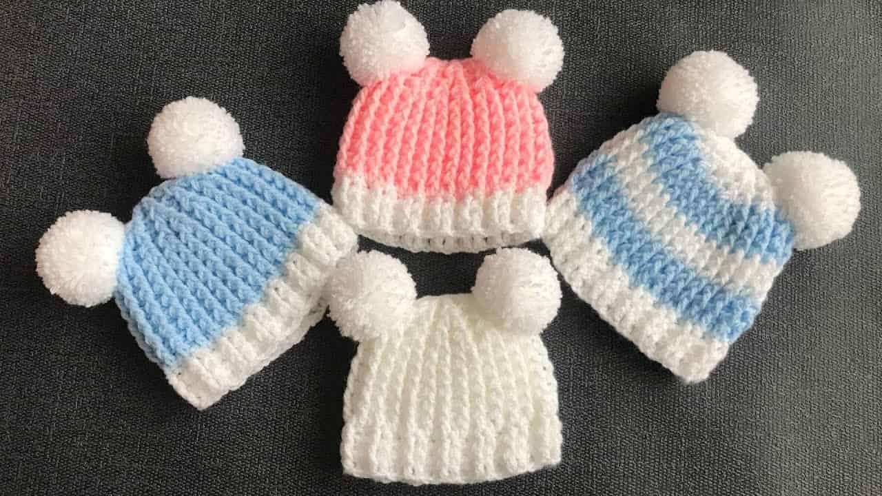 20 minute crochet baby hat