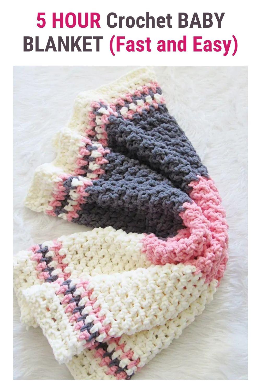5 HOUR Crochet BABY BLANKET