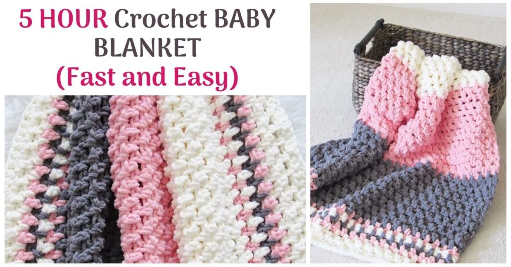 5 HOUR Crochet BABY BLANKET (Fast and Easy)