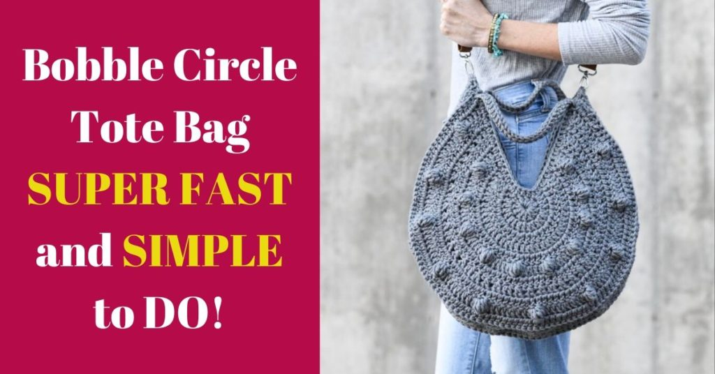 Bobble Circle Tote Bag SUPER FAST and SIMPLE to DO!