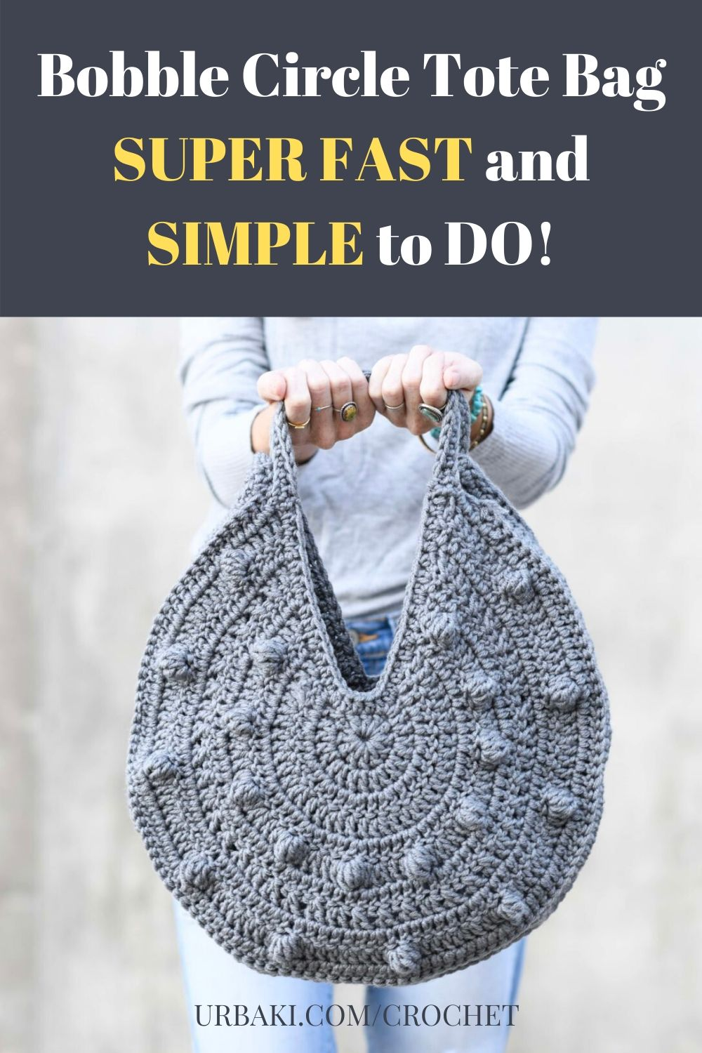 Bobble Circle Tote Bag SUPER FAST and SIMPLE to DO