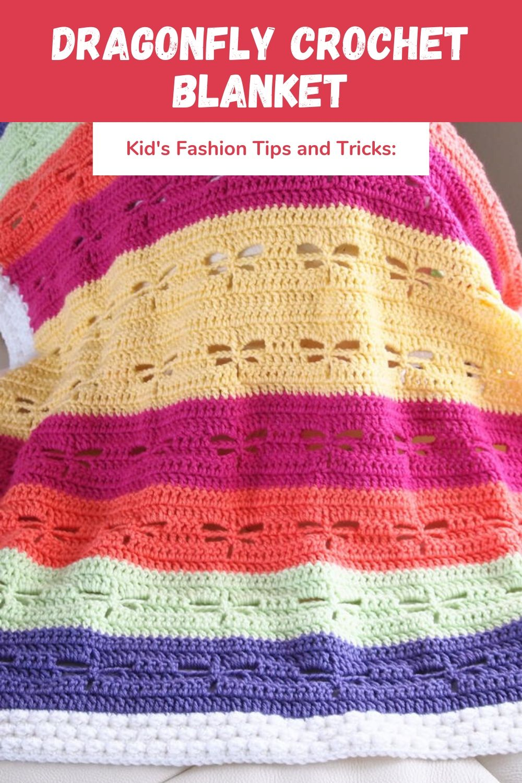 Dragonfly Crochet Blanket