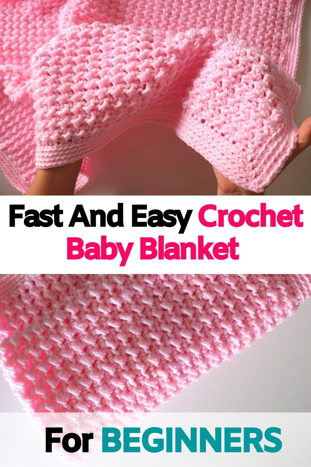 Fast And Easy Crochet Baby Blanket For BEGINNERS