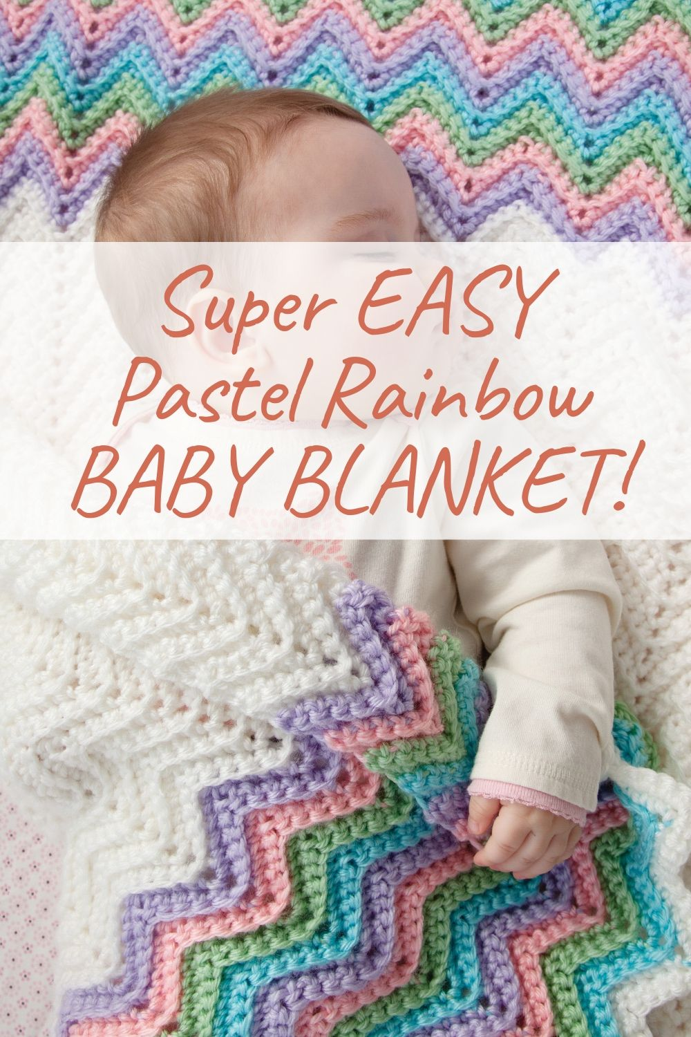 Super EASY Pastel Rainbow BABY BLANKET!