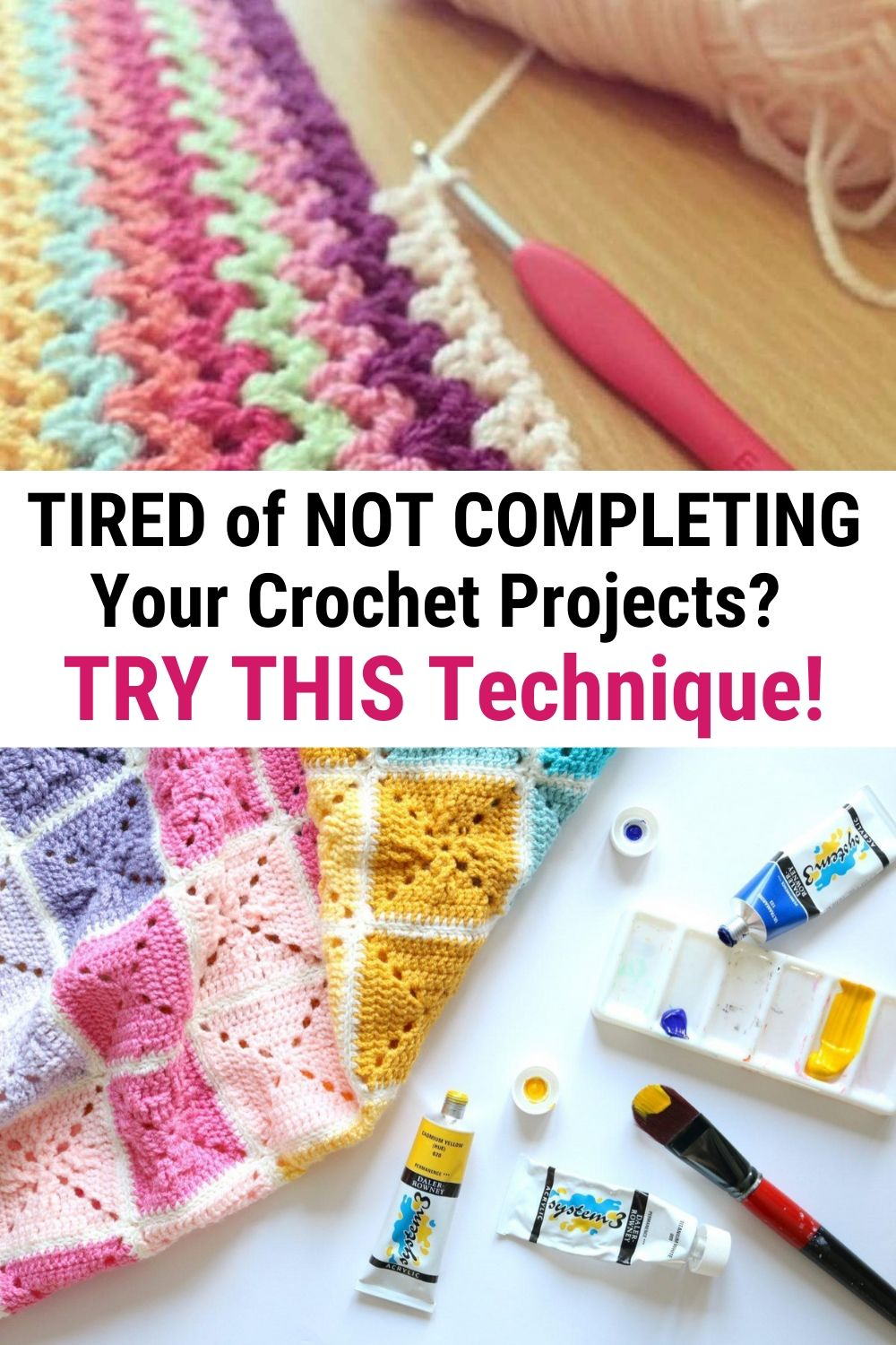 TIRED of NOT COMPLETING Your Crochet Projects_ TRY THIS Technique!