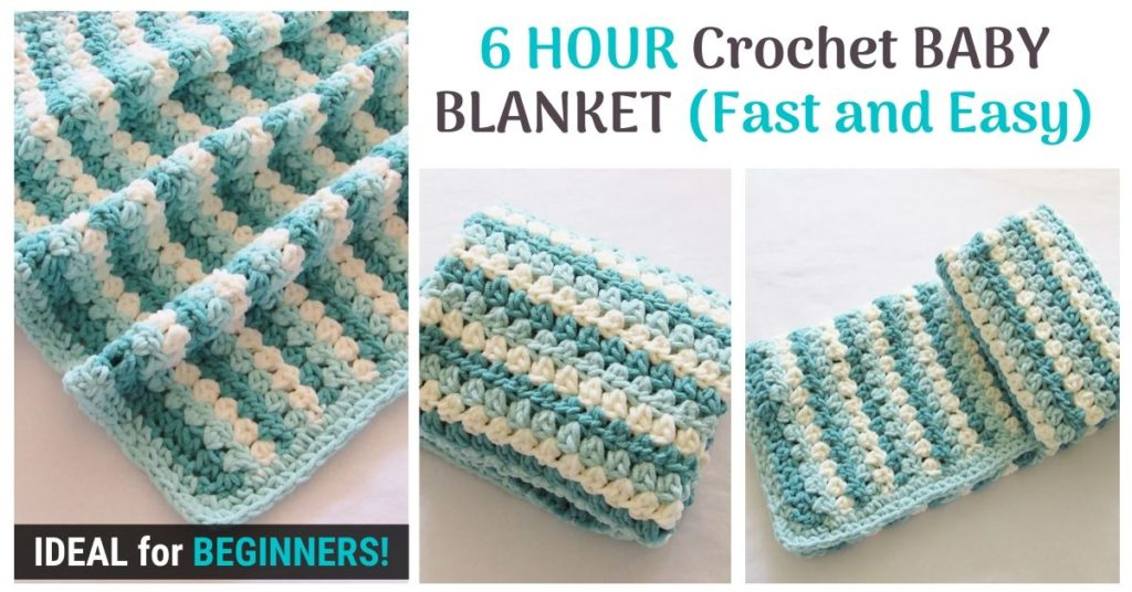 6 HOUR Crochet BABY BLANKET Fast and Easy
