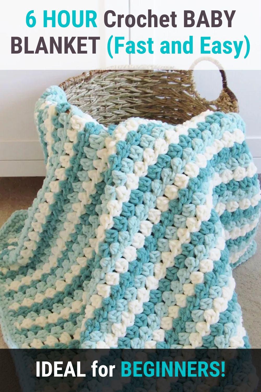 6 HOUR Crochet BABY BLANKET