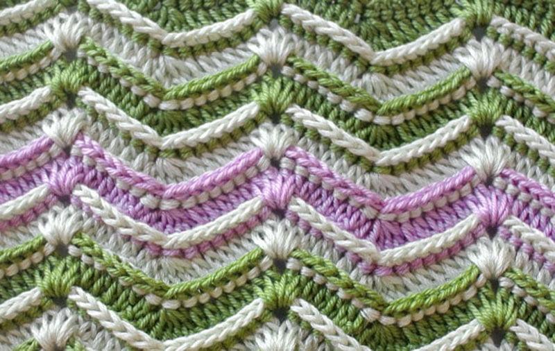 Crochet Textured Wave Stitch