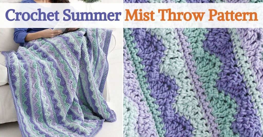 Crochet Summer Mist Throw Pattern