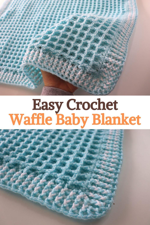 Easy Crochet Waffle Baby Blanket