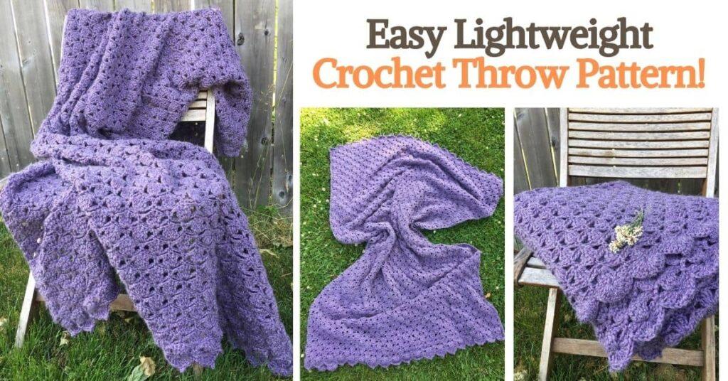 Easy Lightweight Crochet Throw Pattern