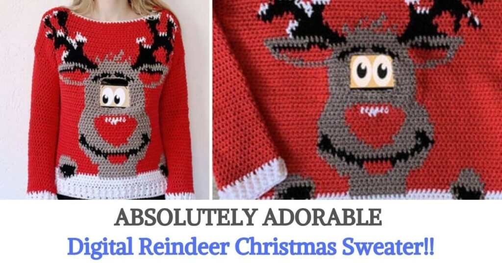 Digital Reindeer Christmas Sweater