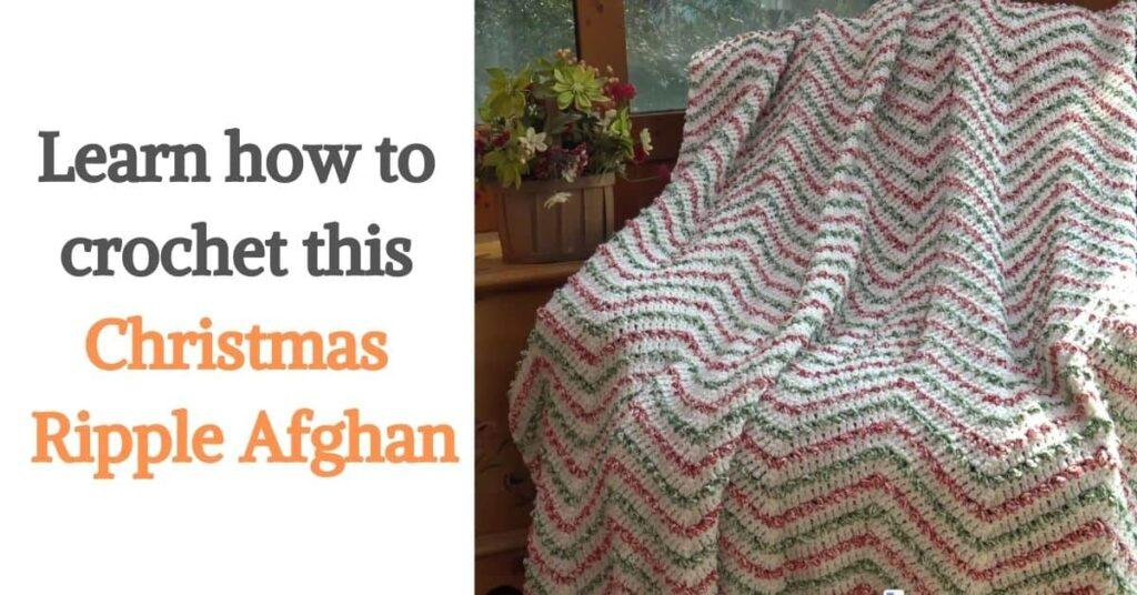 Christmas Ripple Afghan