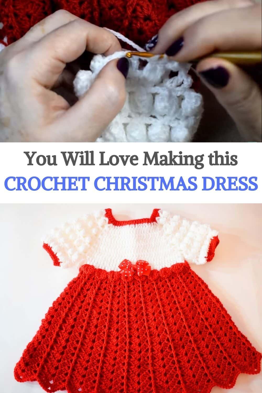 Crochet Christmas Dress