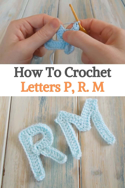 Letters P, R. M