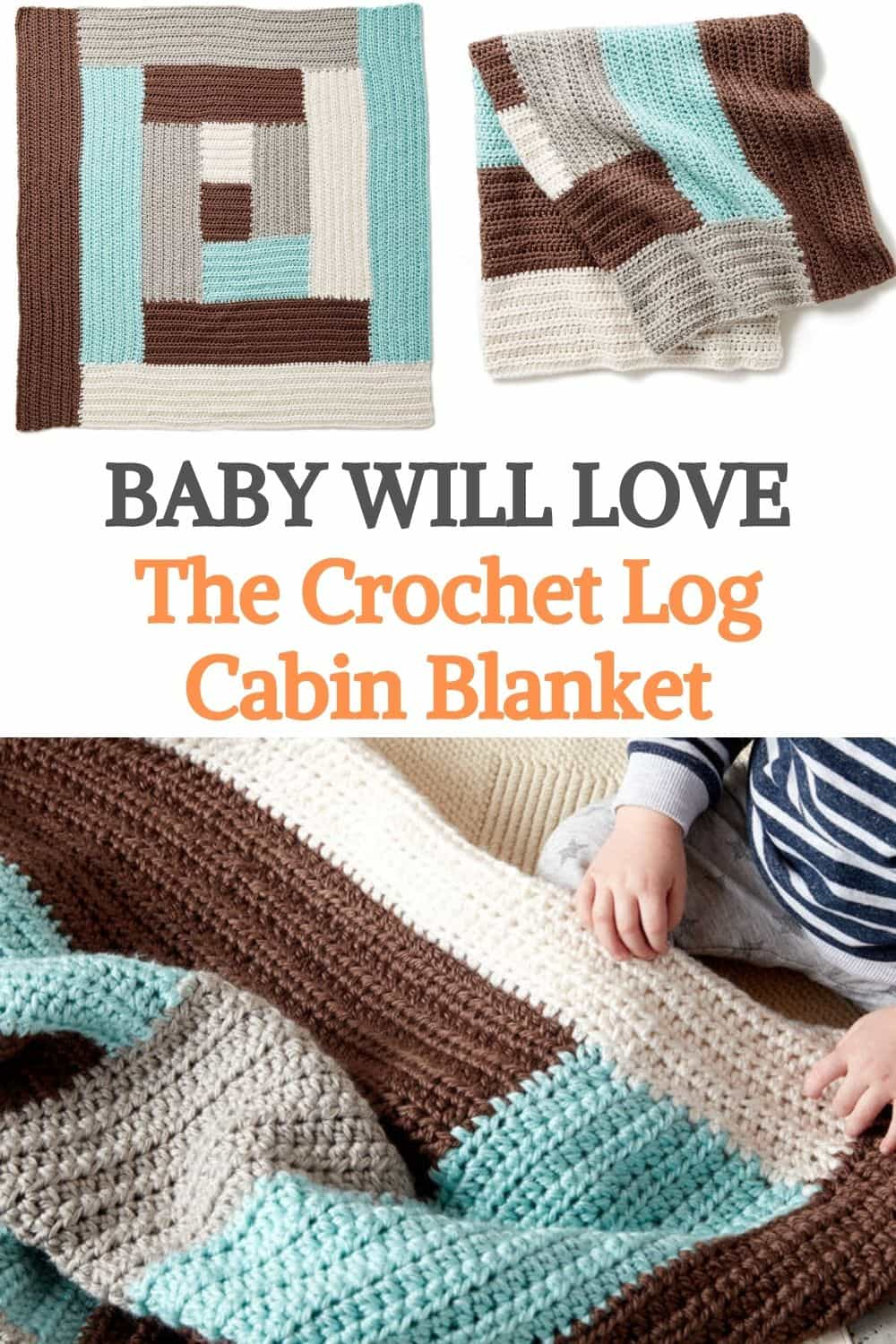 Crochet Log Cabin Blanket