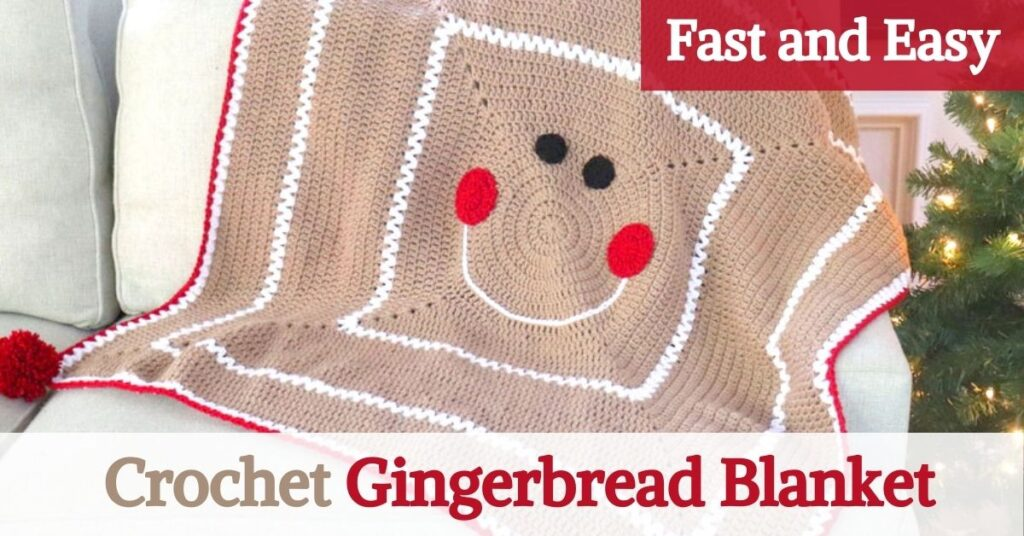 Crochet Gingerbread Blanket