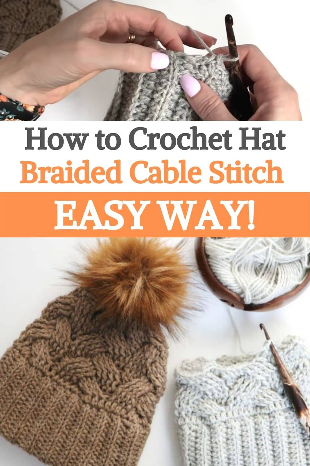 Hat Braided Cable Stitch