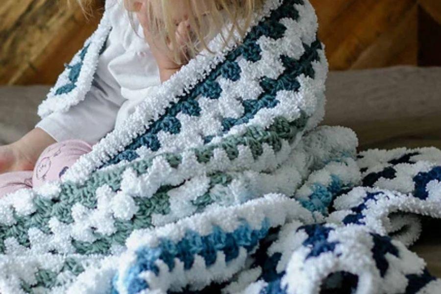 Modern Crochet Baby Blanket