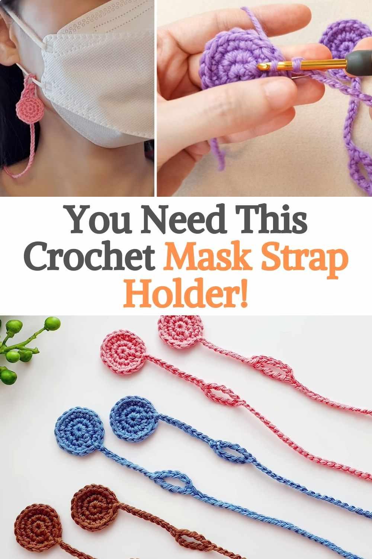 Crochet Mask Strap Holder