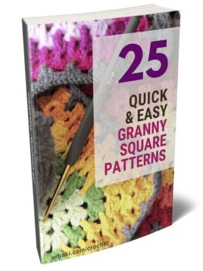 25 crochet granny squares ebook