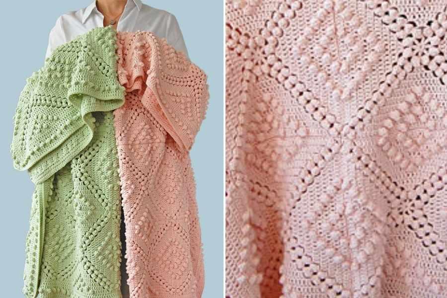 Vintage Style Crochet Blanket