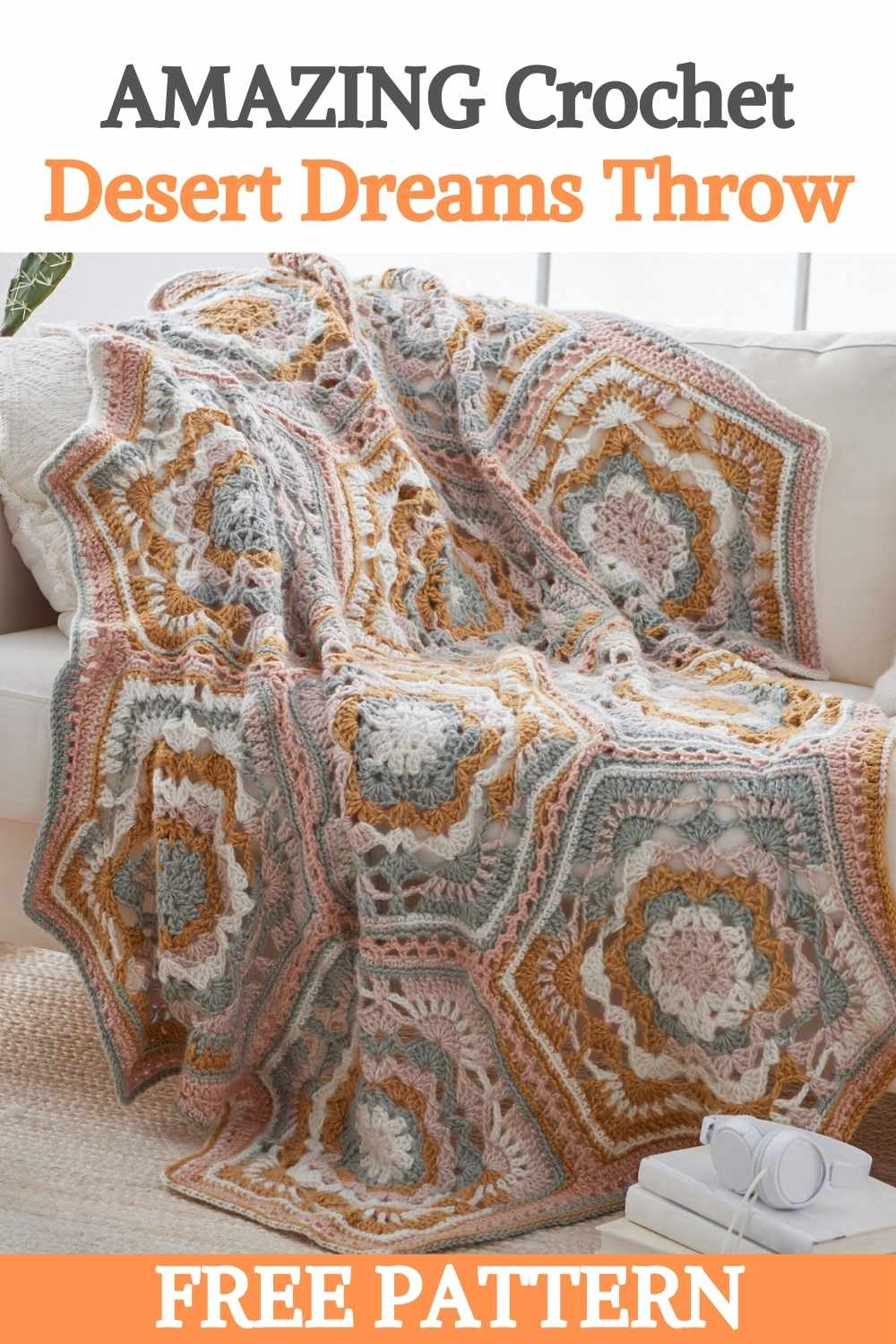 Crochet Desert Dreams Throw