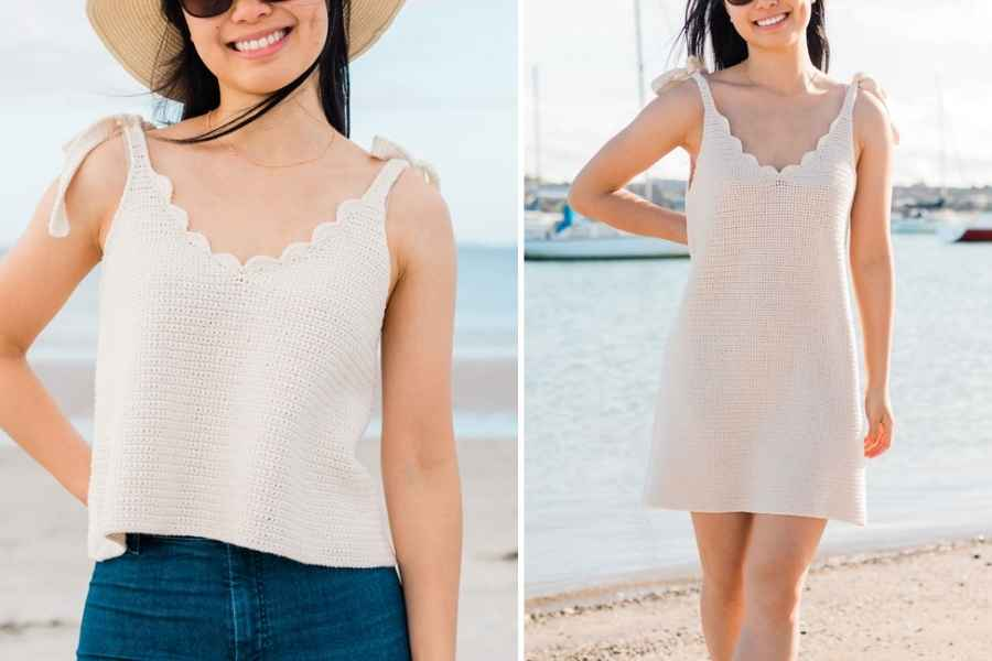 Scallop Tank Top + Dress Crochet (2)