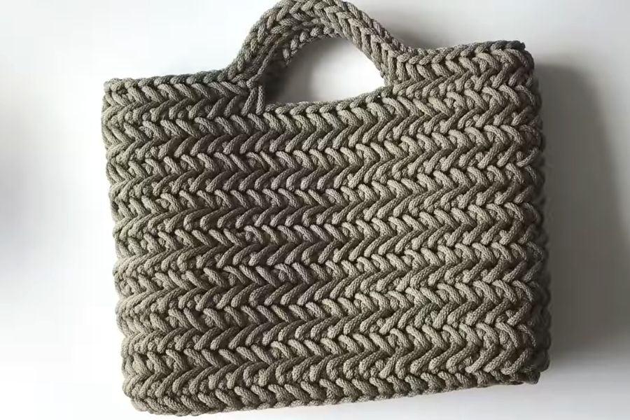 Nice Crochet Herringbone Stitch Handbag